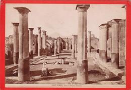 1870s GIACOMO BROGI: POMPEI. CASA DI MARCO OLCONIO - OLD ALBUMINA FOTO 16x11cm ORIGINAL- BLEUP - Foto