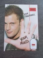 Publicité Papier Parfum - Perfume Ad : Boss Hugo USA 2005 - Advertisings (gazettes)