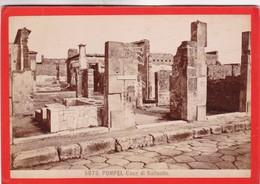 1870s GIACOMO BROGI: POMPEI. CASA DI SALLUSTIO - OLD ALBUMINA FOTO 16x11cm ORIGINAL- BLEUP - Foto