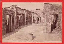 1870s GIACOMO BROGI: POMPEI. CASA DEL POETA TRAGICO - OLD ALBUMINA FOTO 16x11cm ORIGINAL- BLEUP - Foto