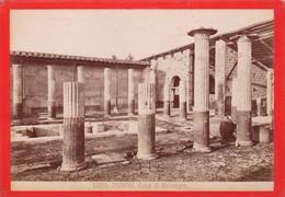 1870s GIACOMO BROGI: POMPEI. CASA DI MELAEGRO - OLD ALBUMINA FOTO 16x11cm ORIGINAL- BLEUP - Foto