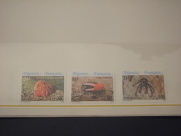 POLYNESIE - 1986 FAUNA MARINA 3 VALORI - NUOVI(++) - Polinesia Francese
