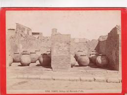 1870s GIACOMO BROGI: POMPEI. BOTTEGA DEL MERCANTE D'OLIO - OLD ALBUMINA FOTO 16x11cm ORIGINAL- BLEUP - Foto