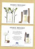 Carte Promo Perfume Card THE ICONIC FRAGRANCES * ISSEY MIYAKE * R/V * UK - Modern (from 1961)