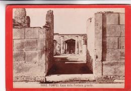 1870s GIACOMO BROGI: POMPEI. CASA DELLA FONTANA GRANDE - OLD ALBUMINA FOTO 16x11cm ORIGINAL- BLEUP - Foto