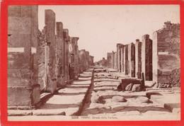 1870s GIACOMO BROGI: POMPEI. STRADA DELLA FORTUNA - OLD ALBUMINA FOTO 16x11cm ORIGINAL- BLEUP - Foto