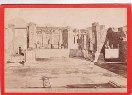 1870s GIACOMO BROGI: POMPEI. CASA DEL FAUNO - OLD ALBUMINA FOTO 16x11cm ORIGINAL- BLEUP - Photographs