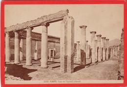 1870s GIACOMO BROGI: POMPEI. CASA DEI CAPITELLI COLORATI - OLD ALBUMINA FOTO 16x11cm ORIGINAL- BLEUP - Foto