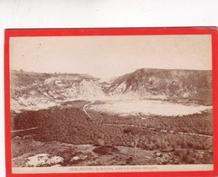 1870s GIACOMO BROGI: POZZUOLI. LA SOLFATARA, CREATERE DI VULCANO SEMISPENTO - OLD ALBUMINA FOTO 16x11cm ORIGINAL- BLEUP - Foto