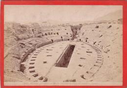 1870s GIACOMO BROGI: POZZUOLI. L'ANFITEATRO MONUMENTO RIMARCHEVOLE - OLD ALBUMINA FOTO 16x11cm ORIGINAL- BLEUP - Foto