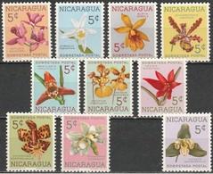 NICARAGUA 1961 Y&T 859 A 868 , 10 Values  MNH / *** Neufs SUP - Nicaragua