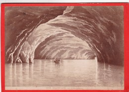 1870s GIACOMO BROGI: ISOLA DI CAPRI. LA GROTTA AZZURRA - OLD ALBUMINA FOTO 16x11cm ORIGINAL- BLEUP - Foto