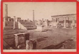 1870s GIACOMO BROGI: POMPEI. TEMPIO DI VENERE - OLD ALBUMINA FOTO 16x11cm ORIGINAL- BLEUP - Foto
