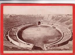 1870s GIACOMO BROGI: POMPEI. ANFITEATRO - OLD ALBUMINA FOTO 16x11cm ORIGINAL- BLEUP - Foto