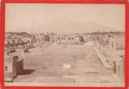 1870s GIACOMO BROGI: POMPEI. FORO CIVILE - OLD ALBUMINA FOTO 16x11cm ORIGINAL- BLEUP - Foto