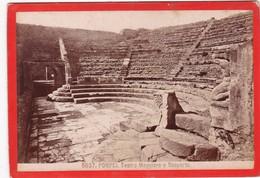 1870s GIACOMO BROGI: POMPEI. TEATRO MAGGIORE O SCOPERTO - OLD ALBUMINA FOTO 16x11cm ORIGINAL- BLEUP - Foto