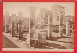 1870s GIACOMO BROGI: POMPEI. TEMPIO D'ISIDE - OLD ALBUMINA FOTO 16x11cm ORIGINAL- BLEUP - Foto