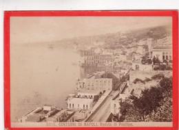 1870s GIACOMO BROGI: CONTORNI DI NAPOLI. VEDUTA DI POSILIPO - OLD ALBUMINA FOTO 16x11cm ORIGINAL- BLEUP - Foto