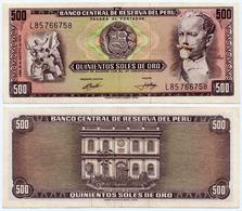 PERU - 500 SOLES NOTE PIEROLA MINERS 1974 - AU - Peru