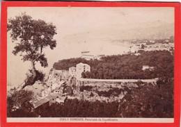 1870s GIACOMO BROGI: SORRENTO. PANORAMA DA CAPODIMONTE - OLD ALBUMINA FOTO 16x11cm ORIGINAL- BLEUP - Foto