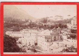 1870s GIACOMO BROGI: CONTORNI DI SALERNO. VILLAGIO CORPO DI CAVA ED ABBADIA  - OLD ALBUMINA FOTO 16x11cm ORIGINAL- BLEUP - Foto