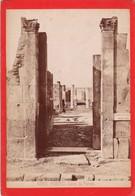 1870s GIACOMO BROGI: POMPEI. CASA DI PANSA  - OLD ALBUMINA FOTO 16x11cm ORIGINAL- BLEUP - Foto