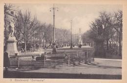 "1910s CPA- BOULEVARD ""SARASATE"". VINTAGE PANORAMA D'EPOQUE. EDICION PAMPLONA FOTO A.DE LEON - BLEUP - Navarra (Pamplona)"