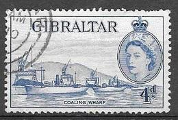 1953 Queen Elizabeth, 4p, Used - Gibraltar