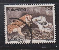 BOTSWANA Scott # 313 Used - Barn Owl & Chicks - Botswana (1966-...)