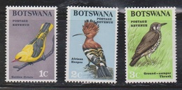 BOTSWANA Scott # 19-21 MH - Birds - Botswana (1966-...)