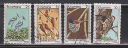 BOTSWANA Scott # 199, 201, 203-4 Used - Birds - Botswana (1966-...)