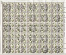 Uganda Of 1969 - Sheet Of Stamps 100 X MiNr. 110 Used - Native Flora - Ipomoea Spathulata - Uganda (1962-...)
