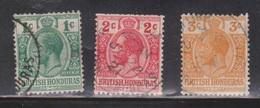 BRITISH HONDURAS Scott # 75-7 Used - KGV Definitives - British Honduras (...-1970)