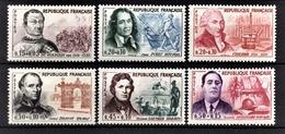 FRANCE 1961 - SERIE Y.T. N° 1295 A 1300 - 6 TP NEUFS** /10 - France