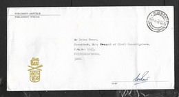 South Africa,Parliament Official Long Envelope, From MP (signed) DURBAN C.d.s. 1985. 11.14 - Covers & Documents