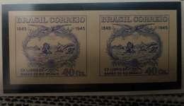 O) 1945 BRAZIL, PROOF IMPERFORATE, BARON OF RIO BRANCO'S BOOKPLATE - SCT 627 40c -JOSE MARIA DA SILVA, XF - Unused Stamps