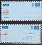"""Great Britain, EIIR, """"1 Postage Paid"""",  Aerogramme"""", Unused & Used NEWQUAY 1991 - 1952-.... (Elizabeth II)"""
