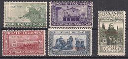 ERITREA 1926  SAN FRANCESCO SASS. 102-106 MLH VF++++++++++++++++++++++++ - Eritrea