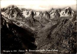 Italy Morgex Catena Mt BIanco Vista Dalla Crete D'Arpy 1966 - Italy