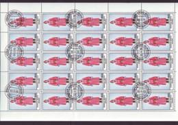 Mongolei/Mongolia Of 1986 - Sheet Of Stamps 25 X MiNr. 1761 Used - National Dress - Mongolei