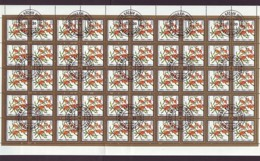 Mongolei/Mongolia Of 1987 - Sheet Of Stamps 50 X MiNr. 1877 Used - Edible Fruits - Mongolei