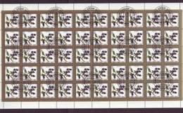 Mongolei/Mongolia Of 1987 - Sheet Of Stamps 50 X MiNr. 1878 Used - Edible Fruits - Mongolei