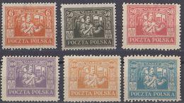 POLONIA - POLSKA - 1922/1923 - Lotto Di 6 Valori Nuovi Senza Gomma: Yvert 254 E 257/261. - 1919-1939 Republic