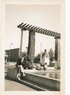 Snapshot Villeurbanne Place Albert-Thomas Lazare-Goujon Buste Bronze Homme Assis - Lieux