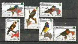 Cuba 2015 Singing Birds 6v + S/S MNH - Pájaros Cantores (Passeri)