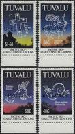 TUVALU 1992 Sky Stars Cross Astronomy Astrology MARG.SPECIMEN Set:4 - Astrologie
