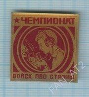 USSR / Badge / Soviet Union / UKRAINE . Air Defense Forces Championship. Sport Radio - Badges