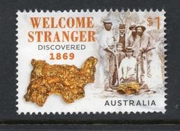 2019 AUSTRALIA GOLD Nugget WELCOME STRANGER VERY FINE POSTALLY USED SHEET STAMP - 2010-... Elizabeth II