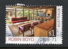2019 AUSTRALIA ROBIN BOYD VERY FINE POSTALLY USED $1 STAMP - 2010-... Elizabeth II