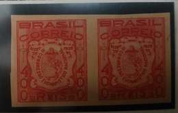 O) 1939 BRAZIL, PROOF IMPERFORATED. EUCHARISTIC CONGRESS SEAL - SCT 478 400r, XF - Brazil